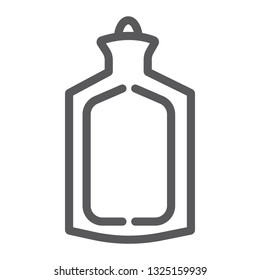 Medical warmer line icon, tool and medicine, rubber warmer sign, vector graphics, a linear pattern on a white background, eps 10.