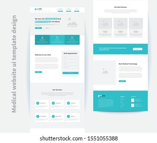 medical website ui template design