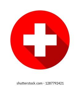 Medical white cross symbol