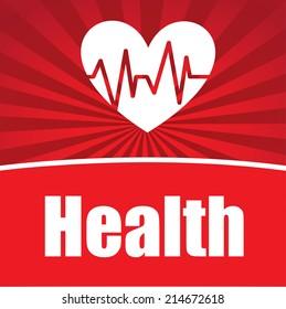 medical,design over red background vector illustration