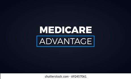 MEDICARE ADVANTAGE Word. Minimal Modern Titles