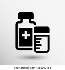 medication icon vector chemistry Flat design style.