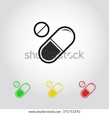 medication sign icon vector illustration flat stock vector royalty