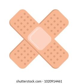 medicinal bandages isolated icon