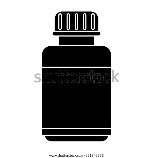 medicine bottle capsule icon pictogram