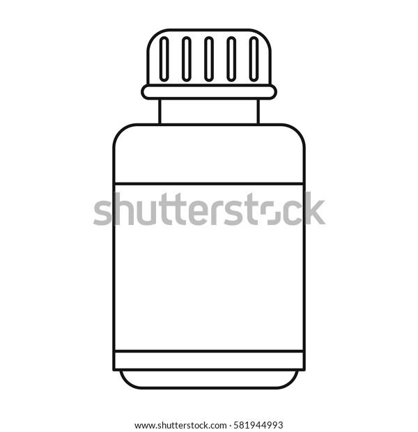 medicine bottle capsule icon thin line