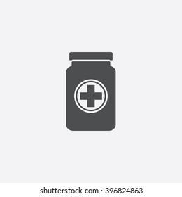 Medicine bottle Icon Vector.