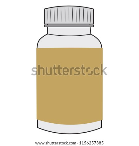 medicine bottle template pack write your stock vector royalty free