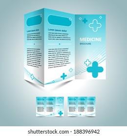 medicine brochure design template