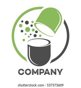 Medicine capsule logo