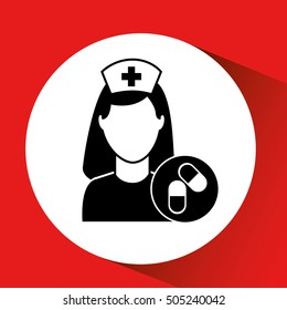 medicine capsule pill hosptial building icon vector illustration