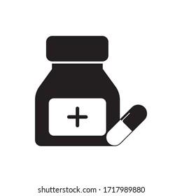 Medicine capsule Tablet icon design graphics vector