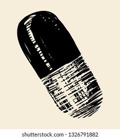 Medicine capsule, vector icon