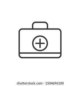 Medicine case vector icon icon