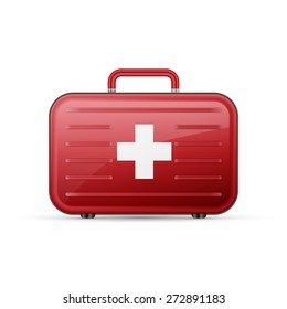 medicine chest on a white background, excellent vector illustration, EPS 10