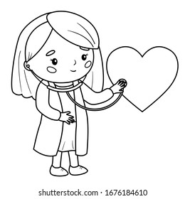Doctor Coloring Pages High Res Stock Images Shutterstock