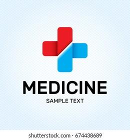medical cross logo design template set のベクター画像素材