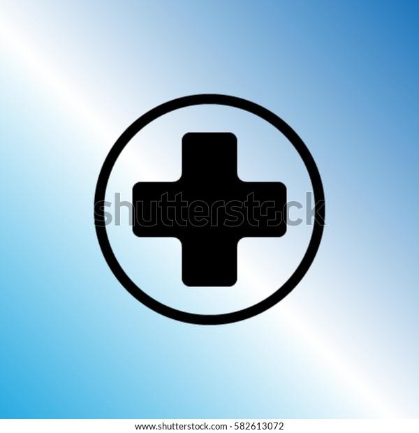 Medicine cross vector icon