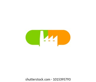 Medicine Factory Icon Logo Design Element