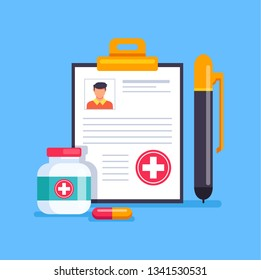 Medicine health care vector flat cartoon graphic design isolated icon illustration