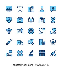 Medicine and healthcare line icons set. Modern graphic design concepts, simple symbols, elements, pictograms collection. Minimal thin line design. Premium quality. Pixel perfect. Vector outline icons