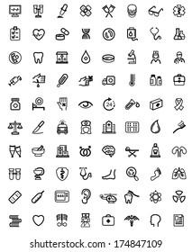 Medicine & Heath Care icons