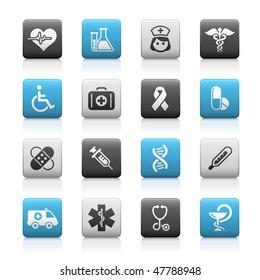 Medicine & Heath Care Web Icons // Matte Series