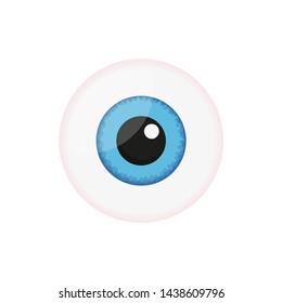 medicine, human organ blue eye in flat style