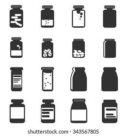 medicine icon bottles  vector illustration