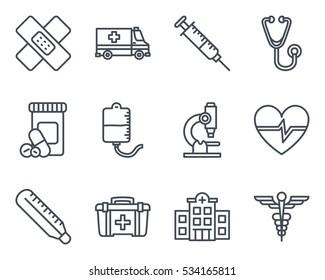medicine icon line