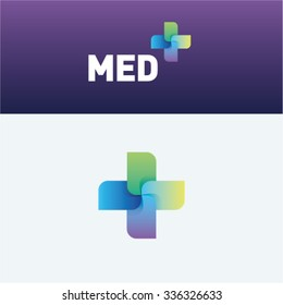Medicine idea logo vector logo template