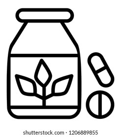 A medicine jar icon vector
