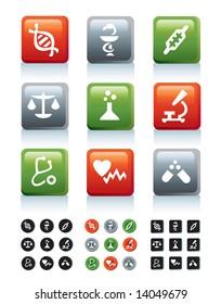 Medicine juicy icons in 4 variations, part 2