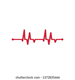 Medicine Modern flat design Hearts Icons Cardiogram, rhythm, ECG - EKG signal - Vector