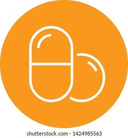 Medicine Pills Prescription Outline Icon