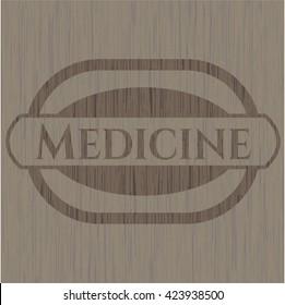 Medicine retro style wood emblem