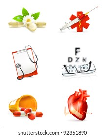 Medicine, set of icons