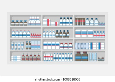 Immagini, foto stock e grafica vettoriale a tema Scaffale Farmacia