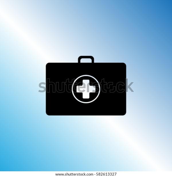 Medicine suitcase vector icon