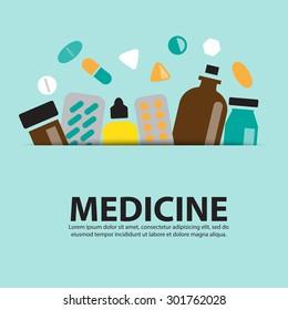 medicine ,vector background