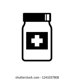 Medicine vector icon on white background