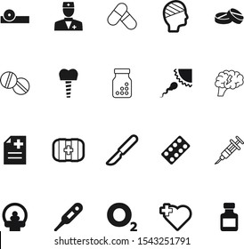 medicine vector icon set such as: brainstorm, report, creative, ophthalmologist, heart, tomography, shape, oculist, needle, blade, knife, kit, ray, temperature, conceptual, bandaged, help, operation