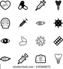 medicine vector icon set such as: oncology, cardiac, assistance, microscopic, electrocardiogram, anatomy, digestive, microbe, heartbeat, strip, ecg, body, addiction, stomach, cardio, circle, cross