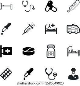 medicine vector icon set such as: eyedropper, man, urgent, rescue, pipett, thermometer, round, needle, doc, scale, strip, staff, label, pack, laboratory, disease, dose, hot, office, employee