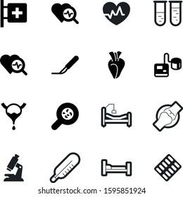 medicine vector icon set such as: monitor, strip, magnification, chemistry, electrocardiogram, zoom, art, wave, organ, cut, blue, scientific, specimen, patella, bones, animal, first, ekg, cure, high