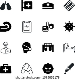 medicine vector icon set such as: cap, eye, male, droplet, nature, case, pack, magnetic, vial, clinician, strip, high, cure, staff, mask, employee, experiment, service, report, ambulance, cardiogram