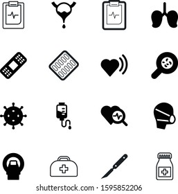 medicine vector icon set such as: blue, mask, organism, art, scanner, plaster, metal, pulmonary, adhesive, diagnostic, blister, rescue, element, mold, drawing, bottle, rate, dating