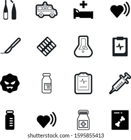 medicine vector icon set such as: blade, xray, blue, start, abstract, erlenmeyer, graphic, transport, blister, dose, ambulance, person, mold, operation, transportation, help, bed, handle, laboratory