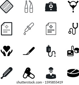 medicine vector icon set such as: body, biology, high, ampule, eyedropper, metal, anatomy, strip, employee, first, blister, nursing, dropper, practitioner, female, drip, therapy, gauge, cold, circle