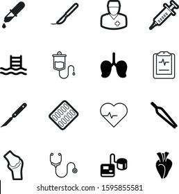 medicine vector icon set such as: orthopedic, icons, beat, diagnosis, strip, leg, people, blue, electrocardiogram, love, knee, patella, pulmonary, aspirin, person, web, eyedropper, blister, iv